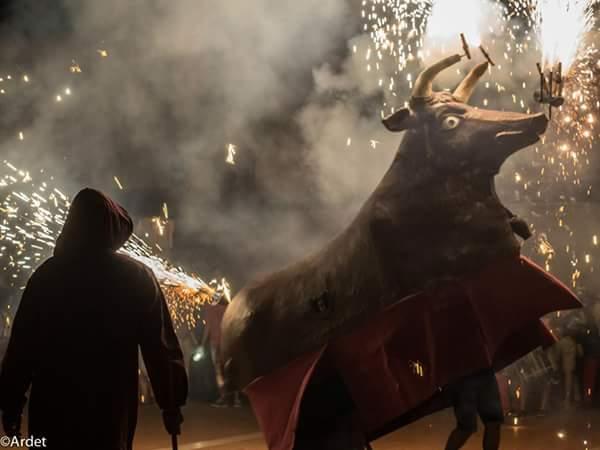 El bou de foc del vendrell